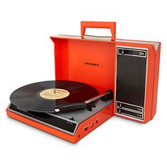 Spinnerette Portable USB Turntable - Red