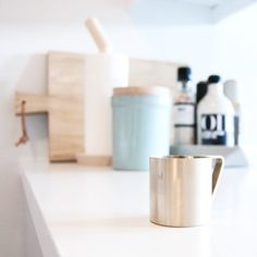 A beautiful picture of our Brass Measurement Cup by @enkontrast  ferm LIVING Measurement Cup - http://www.fermliving.com/webshop/shop/brass-measurement-cup.aspx