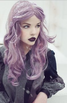 Gorgeous lavender hair