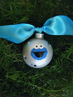Cookie Monster Birthday Ornament  - Personalized Sesame Street
