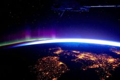 Love Belfast @love_belfast   Wow! UK and Ireland & Northern Lights from the International Space station