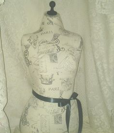 Paris Decorative Dress form designs life size torso apron tutu display | reminiscejewels - Housewares on ArtFire