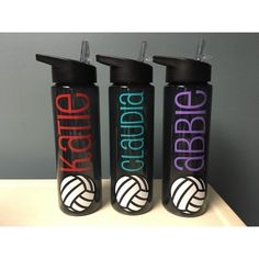 Volleyball Gifts - Water Bottle for Volleyball - Water Bottle with Name - Volleyball Team Gift - 24 oz Water bottle with name - Banquet Gift Volleyball Crafts, Volleyball Team Gifts, Volleyball Drills, Coaching Volleyball, Girls Softball, Volleyball Players, Volleyball Quotes, Girls Basketball, Volleyball Shirt Designs