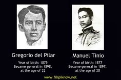 Contrary to popular belief, Gregorio del Pilar was not the youngest general of the Philippine Revolutionary Army. The distinction belongs to Manuel Tinio, known by his Katipunan pseudonym Magiting. Philippines Culture, Mood Songs, Pinoy, History Facts, You Never, Revolutionaries, Did You Know, Fun Facts, Army