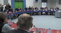 Mr Darko Angelov (Ambassador); Mr Viktor Mizo (CEO, Free Zone Authority); Mr Michele Orzan (President, EuCham); Mr Nikola Gruevski (Prime Minister, Macedonia); Mr Vladimir Peshevski (Deputy Prime Minister for Economic Affairs, Macedonia); Mr Bill Pavlevski (Minister for Foreign Affairs, Macedonia)