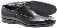 Loake Howard Leather Brogue Oxford Shoes, Black