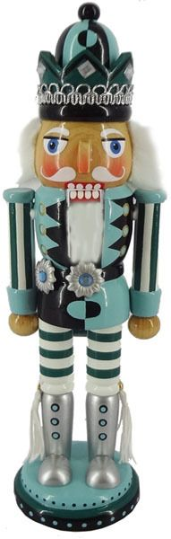 Black and Turquoise Nutcracker