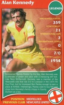 2007 Top Trumps Specials Liverpool #NNO Alan Kennedy Front