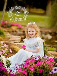 The first day of Spring with Katie in her Mela Wilson Heirloom dress. Email mela.wilson2@comcast.net
