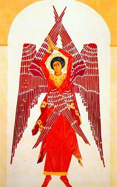 Natalia-Goncharova | Liturgy six winged Seraph - Natalia Goncharova