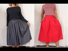 Se coudre une jupe à plis avec 1m de tissu et sans patron ✨ Marion Blush - YouTube