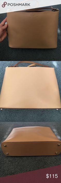 💕1 hour sale💕 Kate spade bag Beautiful tan Kate Spade bag, in great condition. Last picture shows one flaw of scratch on front by the label. Everything else looks great!!! kate spade Bags