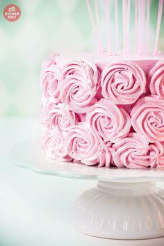 Geburtstagstorte-Torte-Rezept-Rosenverzierung