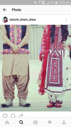 Balochi dress couple Balochi Dress, Men Dress, Muslim Fashion, Ethnic Fashion, Sindhi Dress, Shalwar Kameez Pakistani, Afghani Clothes, Toddler Boy Haircuts, Afghan Dresses