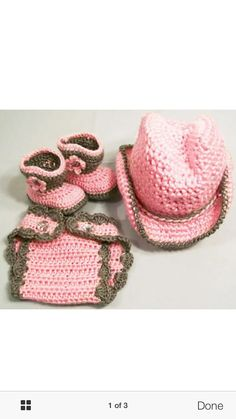 Cowgirl Baby Pink Brown Handmade Diaper Set Boots (0 to 6 months). Newborn  Halloween CostumesCowgirl ... 9b3f80d2df35