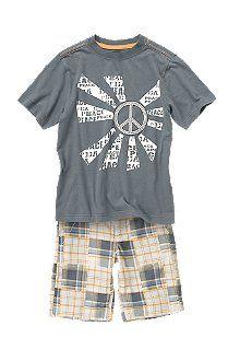Grey peace sign shirt