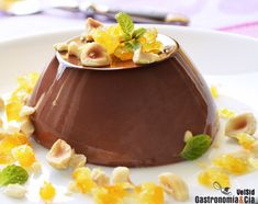 Panna Cotta de chocolate con naranja confitada
