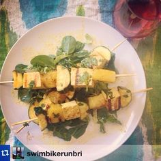 Have you made your Rosemary Pineapple Skewers🍤🍢🍍yet?! They make the perfect summertime meal! Make them with tofu, chicken or shrimp. Find the recipe on ToneItUp.com. It's under last week's Bonfire Babe Recipes post! Thanks so much for sharing @swimbikerunbri! @karenakatrina #TIUPlan #TIUTeam #TIUmeals #createyoursummer  TIUPlan,TIUTeam,TIUmeals,createyoursummer Fitness Workouts, Fitness Goals, Fitness Motivation, Health Fitness, Workout To Lose Weight Fast, How To Lose Weight Fast, At Home Workout Plan, At Home Workouts, Tofu Chicken
