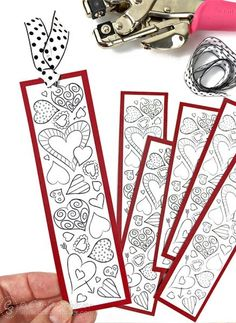 Heart Bookmarks to Print and Color Print Valentine Bookmarks for school. Free printable bookmarks for kids to color from Carla Schauer Designs.Print Valentine Bookmarks for school. Free printable bookmarks for kids to color from Carla Schauer Designs. Valentines Bricolage, Kinder Valentines, Valentines Day Party, Valentine Cards For School, Free Valentine Cards, Valentine's Day Crafts For Kids, Valentine Crafts For Kids, Valentines Day Activities, Craft Activities
