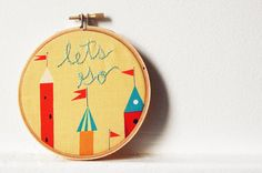 let's go embroidery - so cute!