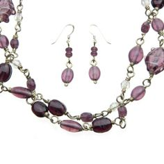 Purple Glass Bead Necklace and Earring Set Guardian Village Handicrafts,http://www.amazon.com/dp/B007X5ZRUS/ref=cm_sw_r_pi_dp_keDYsb0HS9G8PPVX