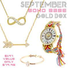 *September Boho Babe Gold Box - Jewelry Buzz Box  - 1