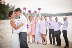 A great perspective on the celebrations - Khun Danai. Faraway Beach wedding, Koh Samui