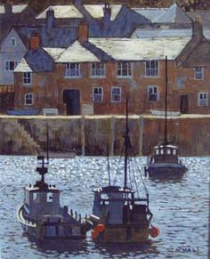 Mike Hall original 'Harbour High Tide'