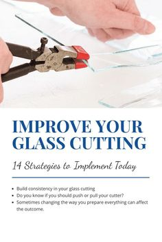 Glass cutting is an important skill for any stained glass hobbyist. These tips will set you up for success in making consistently better breaks.