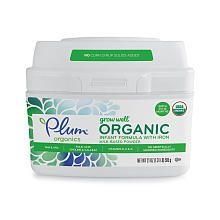 Plum Organics Grow Well Organic Infant Formula  21 Ounce