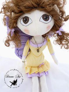 Diana Art, doll, hand made, diy, fairy, shewing