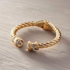 Moja po prostu. Bransoletka z szarymi kryształami - CALEIDOSCOPIO - Kate&Kate Contemporary Classic, Contemporary Design, Stylish, Bracelets, Gold, Accessories, Jewelry, Fashion, Moda
