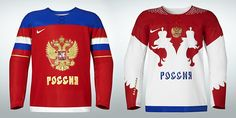 Russia Olympic hockey jersey