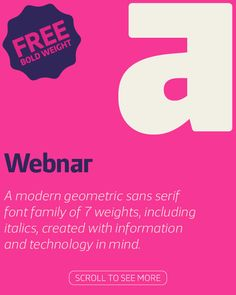 Webnar – Font Family + FREE WEIGHT on Behance