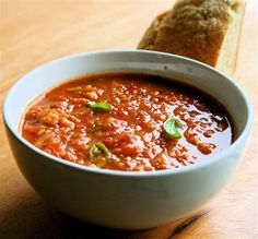 Roasted Tomato Soup Thickened with Bread (Pappa Al Pomodoro) | alexandra's kitchen