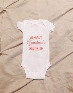 Daddy's Princess Onesie Little Princess by HappilyEverAlva on Etsy Baby Shirts, Onesies, Grandma Onesie, I Love My Grandma, Cute Babies, Baby Kids, Little Mac, Everything Baby, Trendy Baby