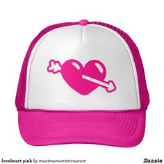 loveheart pink trucker hat  http://www.zazzle.com/loveheart_pink_trucker_hat-148655406590254386?rf=238588924226571373