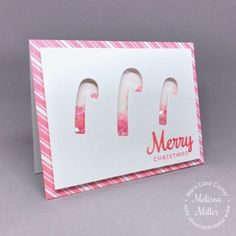 Mel's Card Corner | Candy Cane Lane Shaker Card #stampofapproval