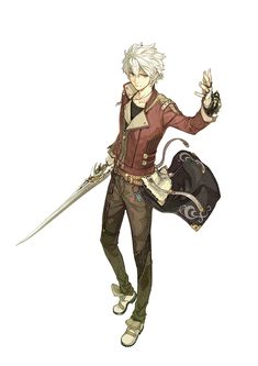 View an image titled 'Logix Ficsario Art' in our Atelier Escha & Logy: Alchemists of the Dusk Sky art gallery featuring official character designs, concept art, and promo pictures. Manga Anime, Art Manga, Anime Guys, Fantasy Character Design, Character Design Inspiration, Character Concept, Character Art, Concept Art, Fantasy Male
