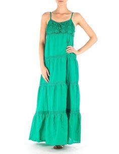Rochie maxi verde smarald cu aplicatie croset  Brand: Garden
