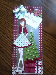 Christmas using Julie Nutting Mixed Media Doll Stamp