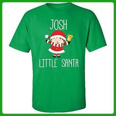 Josh Little Santa Christmas - Adult Shirt Xl Irish-green - Holiday and seasonal shirts (*Amazon Partner-Link)