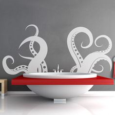 Octopus Tentacles 100x46 White, $69.96, now featured on Fab.  But what a great bathtub!  Who makes that? Also in black