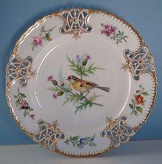 Minton Porcelain Bird Plate 1860's