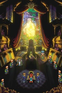 Poster of Crono's trial from Chrono Trigger.Print sizes: 12 x or 24 x Chrono Trigger, Video Games Xbox, Retro Video Games, Chrono Cross, Video Game Posters, City Hunter, Cultura Pop, Final Fantasy, Trials