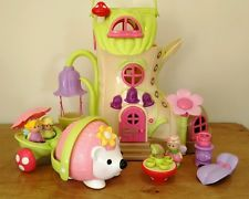 Happyland Musical Fairy Bluebell Boot with Figures and Furniture + Hedgehog!!!