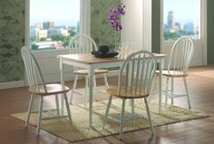 Country Natural/ White Side Chair By Coaster Furniture