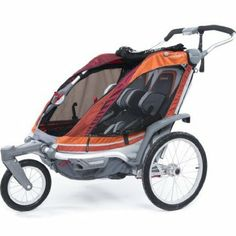 My dream running stroller: Chariot Chinook 2 Chassis with Pivoting Front Wheel; WAY too expensive, so I'll never get it unless we find a super cheap used one, but it's fun to dream.