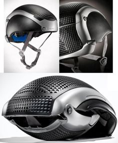 The Pango Folding Helmet folds in three easy steps to half the size so you can stash it in virtually any bag. #product_design