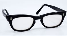 a672d479f67 Vintage Glasses Eyeglasses 1950s 60s Boys Swank Black Frame Made in France   Swank  CatEye